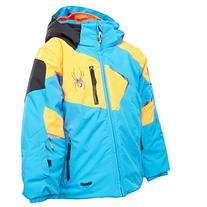 Spyder Mini Leader Jacket Youth Electric Blue / Bryte Orange