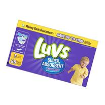 Luvs Super Absorbent Leakguards Diapers, Size 5, 88 Count