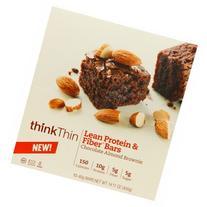 thinkThin Lean Protein & Fiber Bars, Chocolate Almond