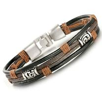 Jstyle Jewelry Men Leather Bracelets Cool Rope Bracelet for