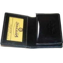 1 X 100% Leather Business Card Holder Black #96-70 by