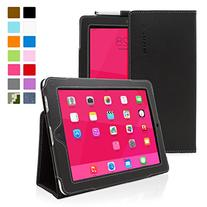 Snugg Leather Kick Stand Case for Apple iPad 1 - Black