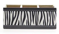JustNile Pattern Leather Desktop Organizer - Zebra Pattern