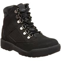 Timberland 6-Inch Leather and Fabric Field Boot ,Black