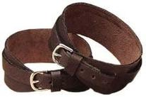 Leather Garter Straps Brown Large