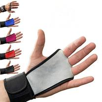 Leather Hand Grips with wrist support for Cross Fitness WODs