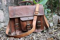 """Hlc 13"""" Leather Messenger I Pad Leather Satchel Shoulder Bag"""