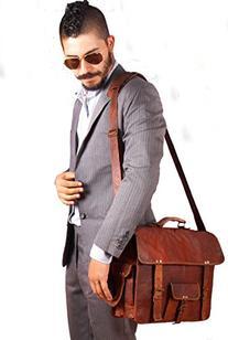 Handmadecart Leather Messenger Bags for Men and Women Laptop