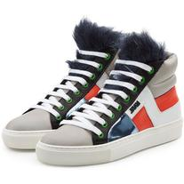 Karl Lagerfeld Leather High Tops
