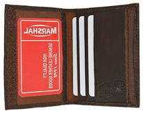 100% Leather Wallet Credit Card Holders Brown #1169