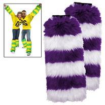 Leg Warmers 2 Pack - Purple/White