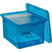 Letter/Legal File Box, Blue