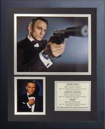 Legends Never Die James Bond Daniel Craig Framed Memorabilia