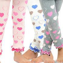 Naartjie Kids Girls Leggings with Ruffle Bottom 3 Pair Pack