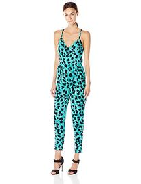 French Connection Women's Leo Leopard Jumpsuit, Caloosa Blue