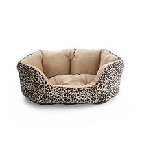 John Bartlett Pet Small Leopard Round Cuddler Pet Bed