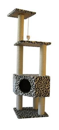 52 Leopard Skin Cat Tree Condo Scratcher by BestPet