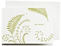Crane & Co. Letterpress Ferns Thank You Note