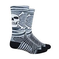 DeFeet Levitator Trail Bonehead Socks, Medium, Grey