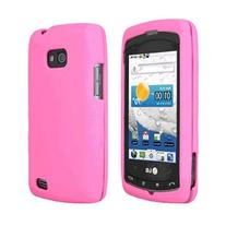 LG Ally VS740 Snap On Gel Skin Case Cover OEM Verizon Pink