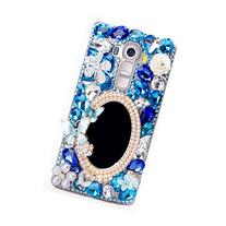 LG Leon Case, Sense-TE Luxurious Crystal 3D Handmade Sparkle