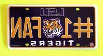 LSU Tigers License Plate - #1 Fan