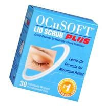 Ocusoft Lid Scrub Plus, Individually Wrapped Pre-Moistened Pads - 30 ea