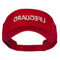Lifeguard Embroidered Strap Back Visor - Red OSFM