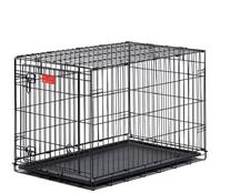 MidWest Life Stages Double-Door Folding Metal Dog Crate, 36
