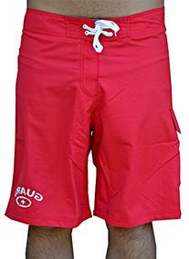 Mens Lifeguard Swimwear Boardshort  - Red - 32