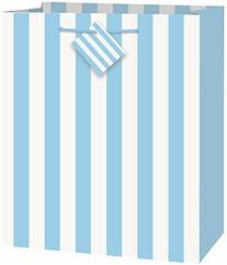 Light Blue Striped Gift Bag