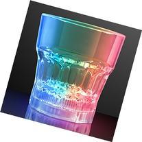 Light Up Color Changing LED Whiskey Rocks Lowball Glasses