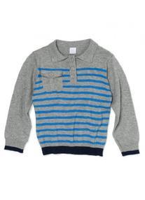 Light Weight Knit Polo in Cloud-3T