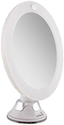 Zadro Led Lighted Z'swivel Power Suction Cup Mirror, White