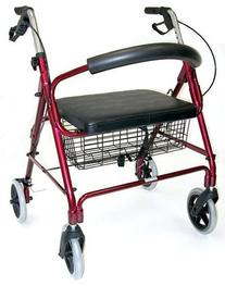 Duro-Med Extra Wide Rollator Walker, Folding Light Weight