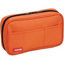 LIHIT LAB Pen Case, Orange, 4.7 x 7.9