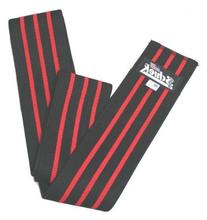 Black Line Knee Wraps in Black w Velcro