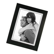 Malden International Linear Series Wood Frame, for a 6 x 8 Photograph, Color/Style: Black