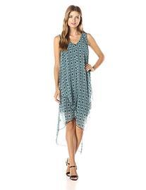 Kensie Women's Lined Ellipse Sleeveless Printed Dress,