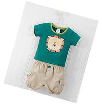 Baby Aspen Lion T-shirt and Cargo Style Shorts Set