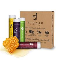 Lip Balm, USDA Organic, Exotic Flavors , Natural Beeswax,