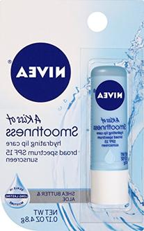 NIVEA Smoothness Lip Care SPF 15 0.17 Ounce Carded Pack