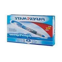 Paper Mate Liquid Flair Porous-Point Pen, Medium Tip, 12-