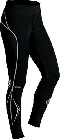 Asics Women's Lite-Show High Visibility Tights, Black/Sequin