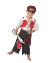 Little Boys' Ahoy Matey Pirate Costume ) Size: Toddler Small