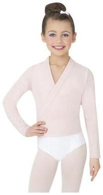 Capezio Youth Classic Knits Wrap Sweater, Black-MD 8/10