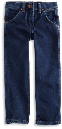 Wrangler Little Boys' Cowboy Cut Jeans,Dark Indigo,4 Regular