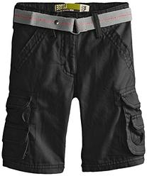 Lee Little Boys' Dungarees Belted Wyoming Cargo Short, Black