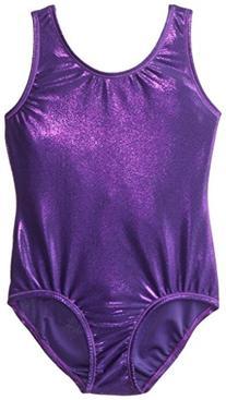 Danskin Little Girls' Gymnastics Solid Sparkle Leotard,