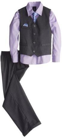 Nautica Dressy Vest Set, Grey, 2T/2